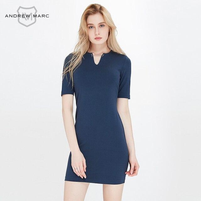 2017 ANDREWMARC  Women Slim Dress Summer Fashion Brand  Dresses Woman Office Lady Casual Woman's Dress TW7GD008