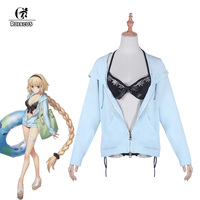 ROLECOS Japanese Game Fate Grand Order Cosplay Costume Joan of Arc Swimsuit Jeanne d'Arc Cosplay Costume FGO Swimwear for Women