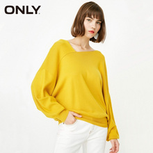 ONLY Brand NEW sweet fashion loose solid color special collar batwing sleeve pullover knit women |117324546