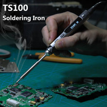 2019 חדש TS100 עט סוג מיני לתכנות חכם מתכוונן הדיגיטלי LCD חשמלי מלחם הלחמה תחנת זרוע MCU