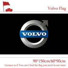 Free shipping Volvo Flag For Car Show 90x150cm 60*90cm Size Polyster Party Bar Banner