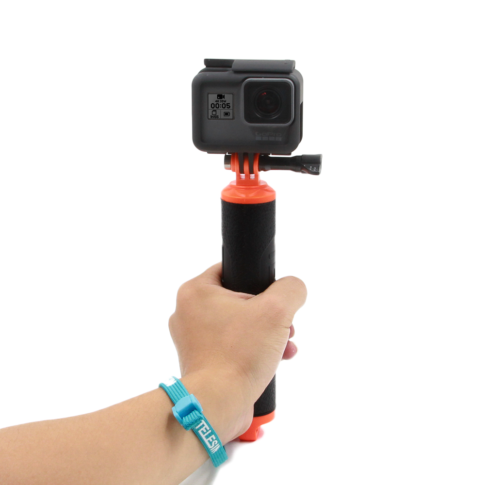 TELESIN Floating Bobber Hand Grip Stick Pole Handle Trigger Shutter Set for GoPro Hero 5 Hero 4 3 3+ and TELESIN 6 Dome Port