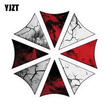 YJZT 15CM*15CM Funny UMBRELLA CORPORATION RESIDENT EVIL Car Sticker Reflective Motorcycle Parts C1-7531(China)