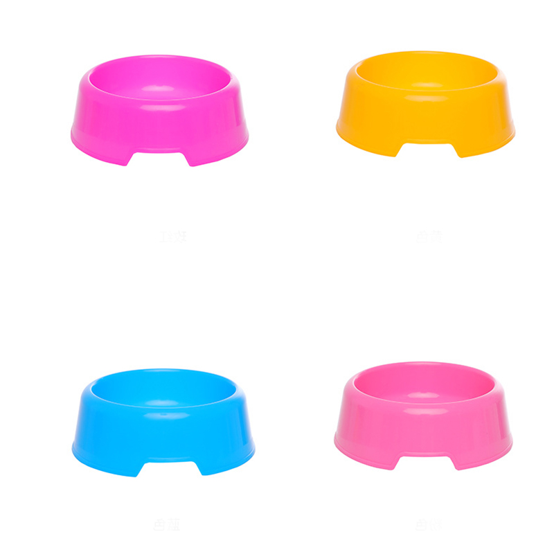 1 pcs Pet Supplies 12cm*4.5cm size Candy Color Plastic Dog Bowl Feeding Water Food Puppy Feeder Cat Dog Bowls feeding Supplies