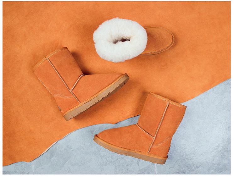 высокое качество из объем кожи зимние сапоги 2018 новые зимние vocation зимние обувь долго теплая обувь размер 35-40, зимние вкус choke ботинки