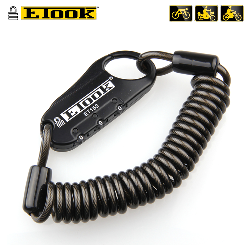 ETOOK Mini Bicycle Lock 3 Digital Password Lock Bike Helmet Code Combination Road Bike Anti-theft Cable Portable Cycling Lock etook big bicycle bike u lock anti theft lock electric car theft et170 shear lock 5
