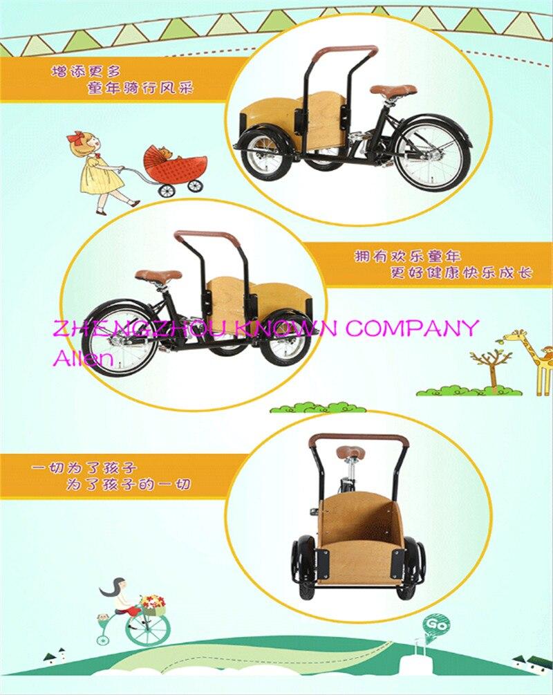Fahrrad baby fahrrad kinderwagen, mutter und kind warenkorb, doppel fahrrad für ganze familie, drei räder kinderwagen kind dreirad