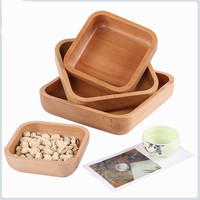 1pc Simple Modern Style Square Shape Candy Snacks Containers Dry Fruit Melon Seeds Storage Trays Large