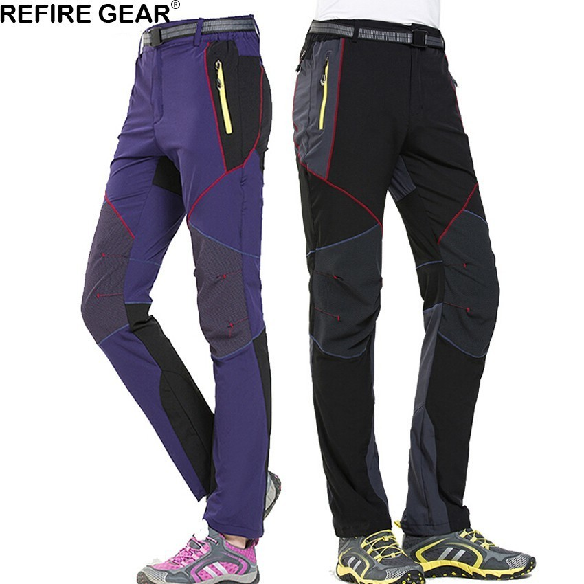 Refire Gear Men's Women's Quick Dry Breathable Pants Outdoor Slim Fit Hiking Camping Fishing Trekking Fishing Climbing Trousers Carefully Selected Materials