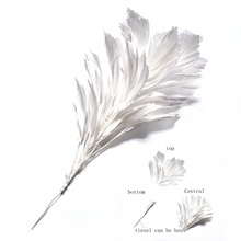 15color 1pcs/lot white goose feather flower for crafts length 30CM DIY natural feathers wedding brooch party decorative Plume