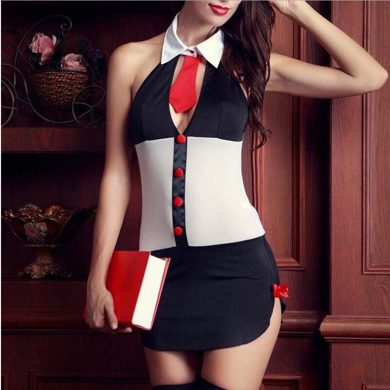 Сексуальная девушка в костюме учительницы фото