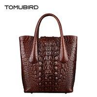 TOMUBIRD 2019 новые женские сумки известный бренд Женская сумка Роскошные сумки из натуральной кожи сумка из воловьей кожи с крокодиловым узором