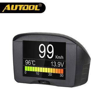 AUTOOL X50 Plus Multi-Função de Alarme de Carro OBD Inteligente Medidor Digital Medidor de Temperatura de Água Digital Tensão Display do Medidor De Velocidade
