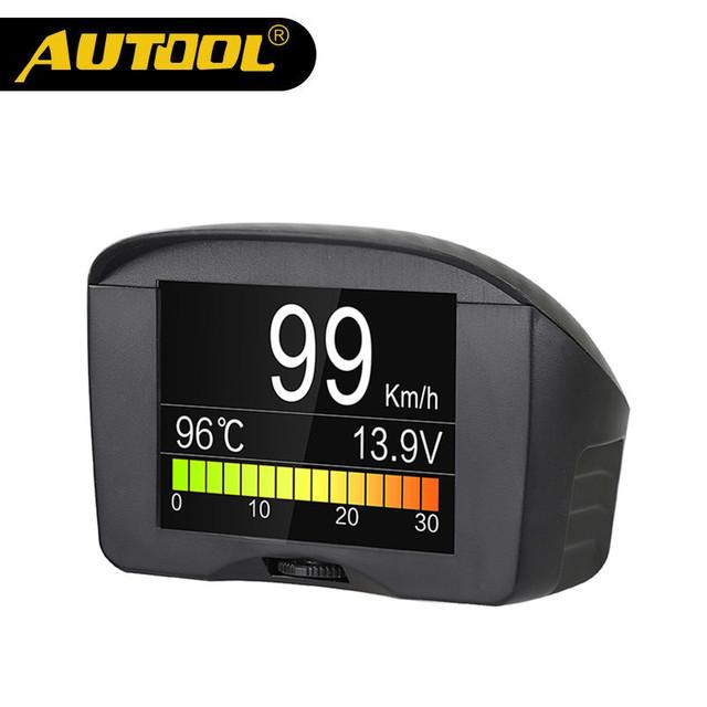 AUTOOL X50 Plus Multi-Function Car OBD Smart Digital Meter Alarm Water Temperature Gauge Digital Voltage Speed Meter Display