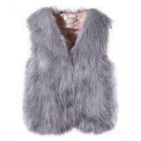 New Fashion 2018 Clothing Winter Coat Women Imitation Fox Fur Waistcoat Female Jacket Faux Fur Vest