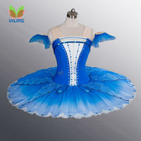 Blue ballet tutu dress for girls classical professional ballet tutus skirt Ballet clothes children dance costumes for kids