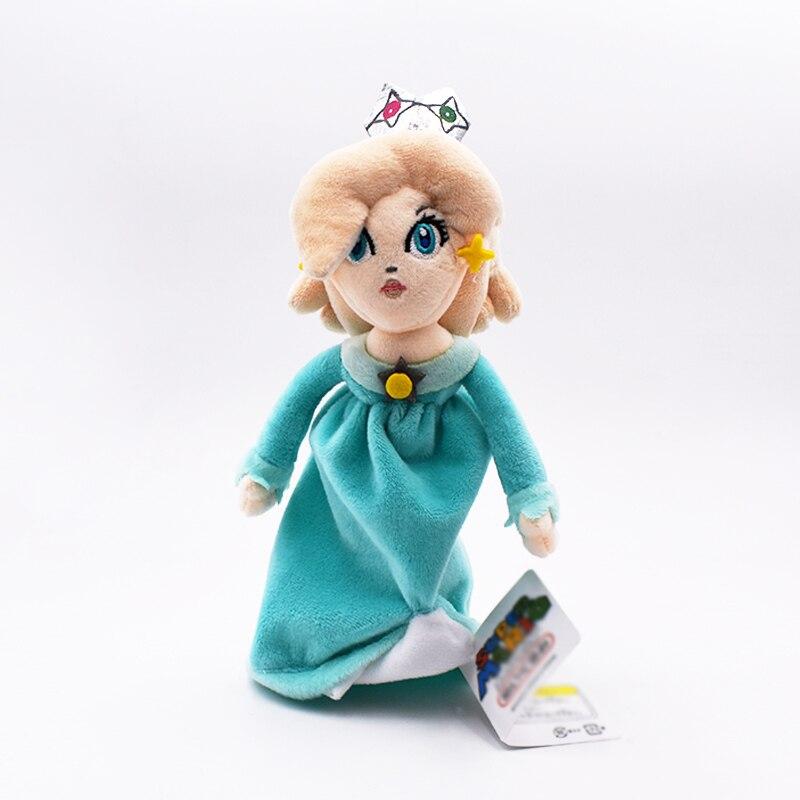 22 cm azul princesa Super Mario princesa melocotón Peluche de juguete de dibujos animados de Japón hermosa princesa envío gratis mejor regalo para las niñas