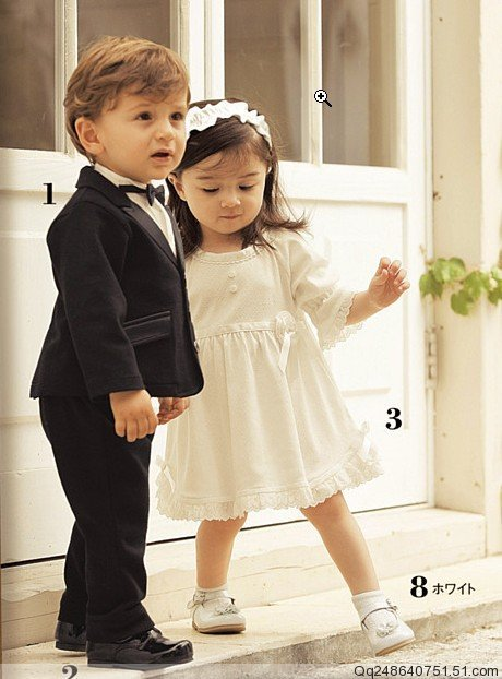 3pcs/lot,Baby Girl\'s wedding Dress, High Quality Kids party Dress ...