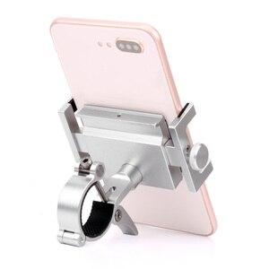 """Image 3 - Evrensel bisiklet telefon tutucu dönebilen MTB yol anti hırsızlık CNC alüminyum 3.5 6.2 """"Smartphone bisiklet gidon kök standı montaj"""