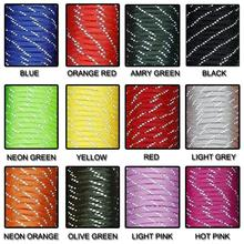 1 шт. светоотражающий материал 7 Core 100FT светоотражающий парашютный шнур Паракорд для браслет с пряжкой 12 цветов