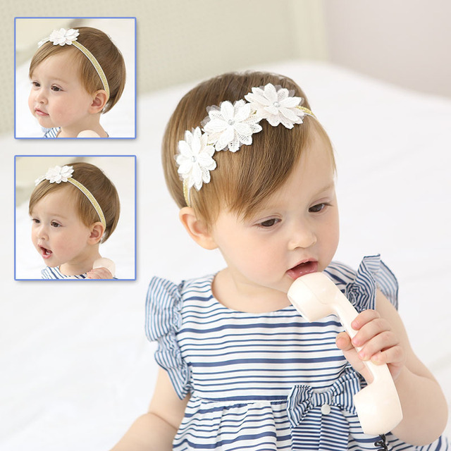 2017 lovely baby white flower headband toddler infant girls hair 2017 lovely baby white flower headband toddler infant girls hair band photography pros birthday gift bandeau mightylinksfo