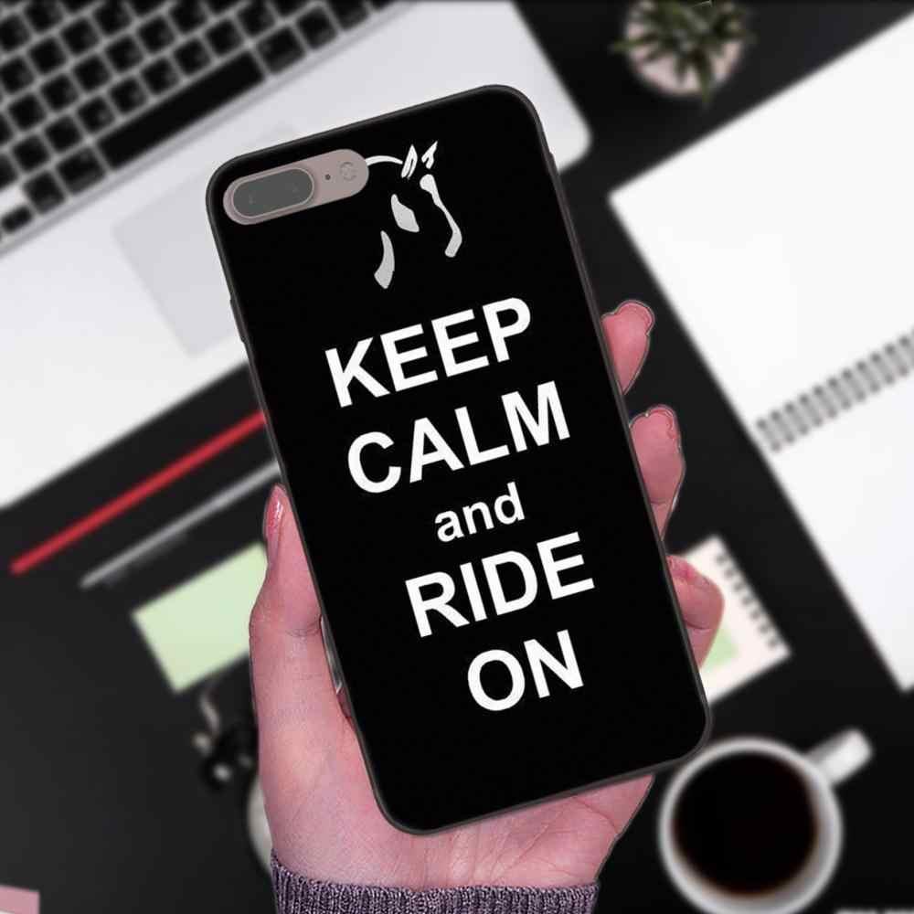 ТПУ Телефон чехол для Xiaomi mi x Max Note 2 2 S 3 5X6X8 9 SE A1 A2 Lite Play Pro F1 2019 сохранять спокойствие и верхом на лошади пони