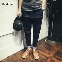 Baalmar Fashion Black Jeans Men Original Brand Jeans Ripped Denim Trousers Men`s Jeans High Quality Brand Male Jeans Homme