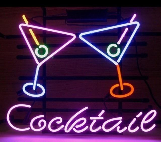 Custom Cocktail Martini  Beer Glass Neon Light Sign Beer Bar 1