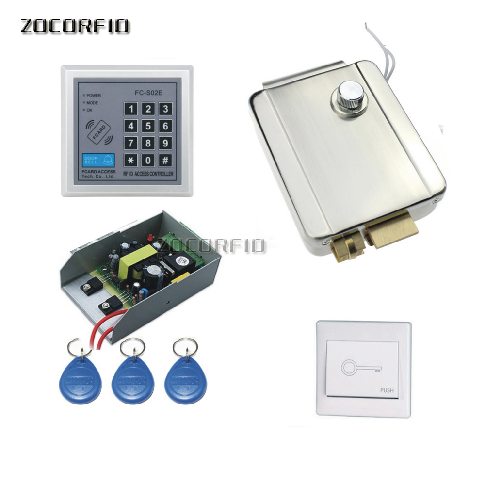 Alert Diy Rfid 125khz power+1 Switch+10pcs Key Cards Nourishing The Kidneys Relieving Rheumatism password Access Control System /iron Is Special Lock