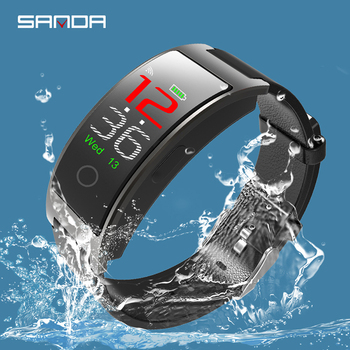 цена на Color Screen Sanda waterproof Smart Watch for men women clock blood pressure Pedometer Sport Fitness Bracelet Bluetooth watch