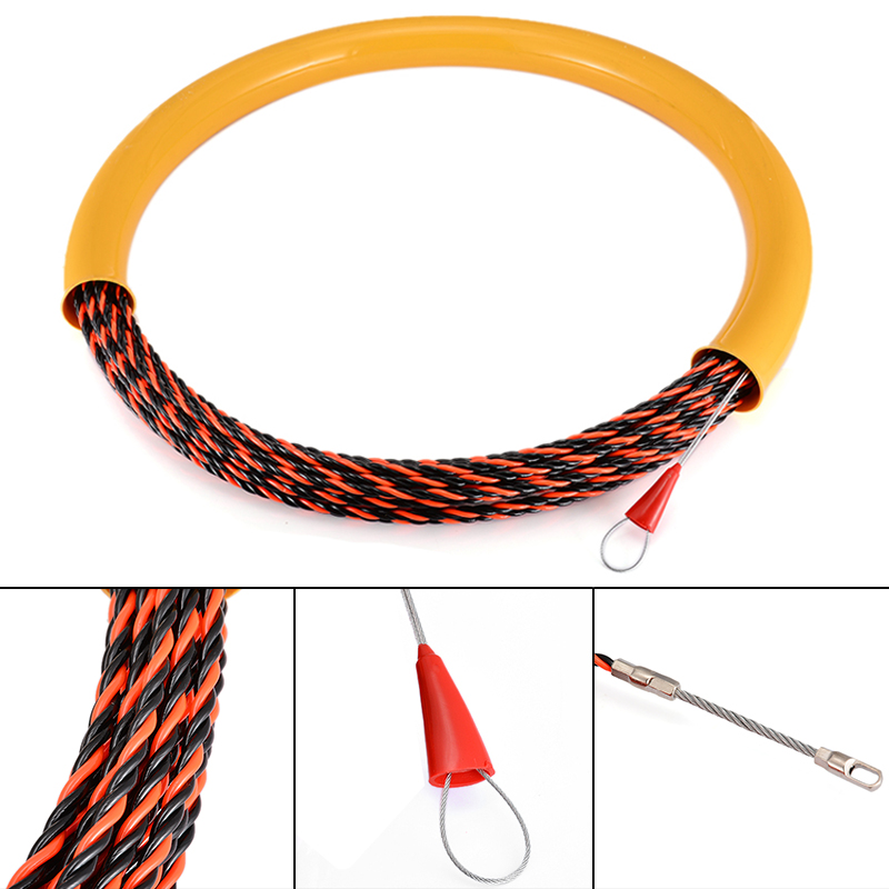 Tools Tool Sets Selfless New 6mm Cable Push Puller 30m Long Wire Cable Puller Rodder Conduit Snake Fish Tape Tested 650kg Mayitr