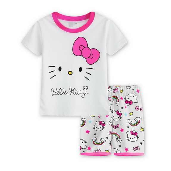 612621879d New cartoon children summer pyjama short sleeve pajamas cotton baby boys    girls Sleepwear underwear sleeping