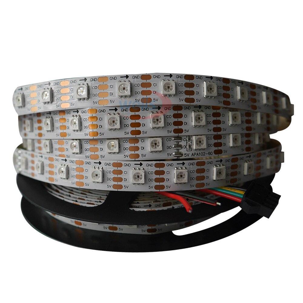 60 m APA102 60led/m non-imperméable à l'eau blanc PCB