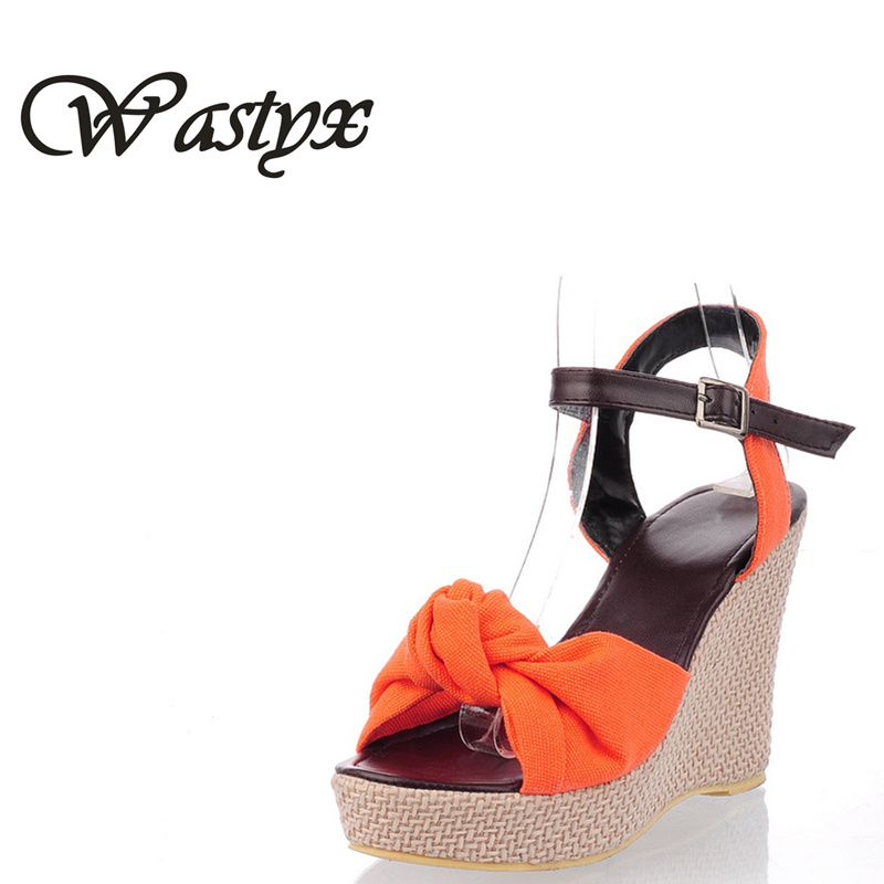 Wasyx New Arrival Ladies Shoes Women Sandals Summer Open Toe Fish Head  Fashion Platform High Heels Wedge Sandals Female Shoes 54cf1e231597