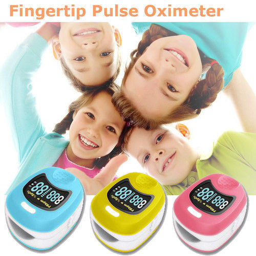 Yellow,Pink,Blue color FDA CE CMS50QB Pediatric Children Kids Finger Pulse Oximeter Spo2 PR,OLED,oximeter CMS50QB bohchip f16 f16 ic