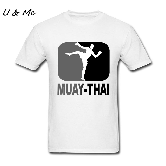 06ee5aaf Muay Thai Men T Shirts Boxinger Street tshirt Adult Cheap Sale t-shirts  Printing Classic Collar Basic Tee Top Homme