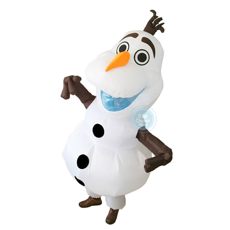 2017 New Snowman Inflatable Costume for Halloween Adult Size Fancy Suit Mascot 2m Large Mascot Cosplay Funny Removable Nose