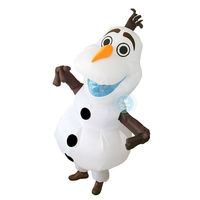 2017 New Snowman Inflatable Costume For Halloween Adult Size Fancy Suit Mascot 2m Large Mascot Cosplay