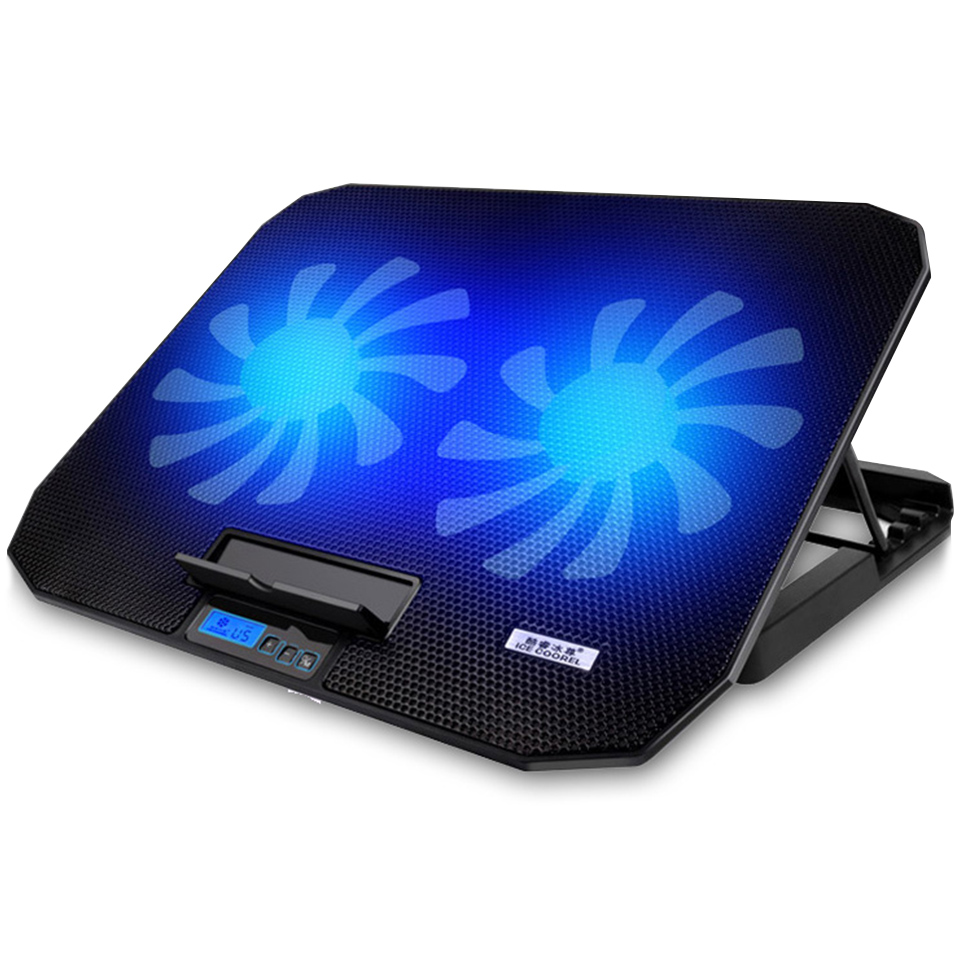 Image 2 - Laptop cooler 2 USB Ports and Two cooling Fan laptop cooling pad Notebook Stand for 12 15.6 inch for Laptop-in Laptop Cooling Pads from Computer & Office