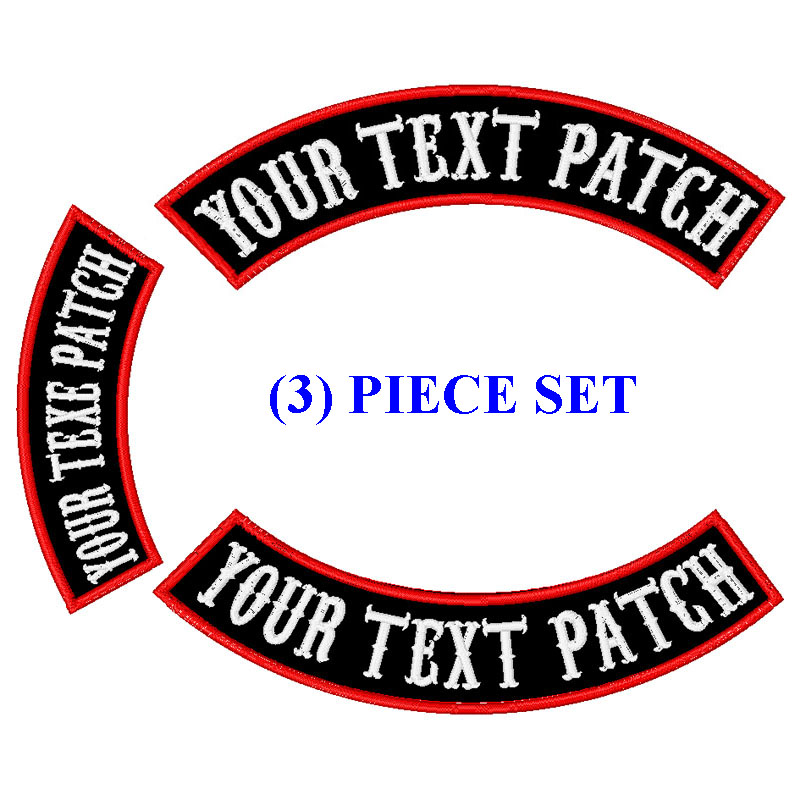Embroidered Rocker Small Biker Patches Queens for sleeve