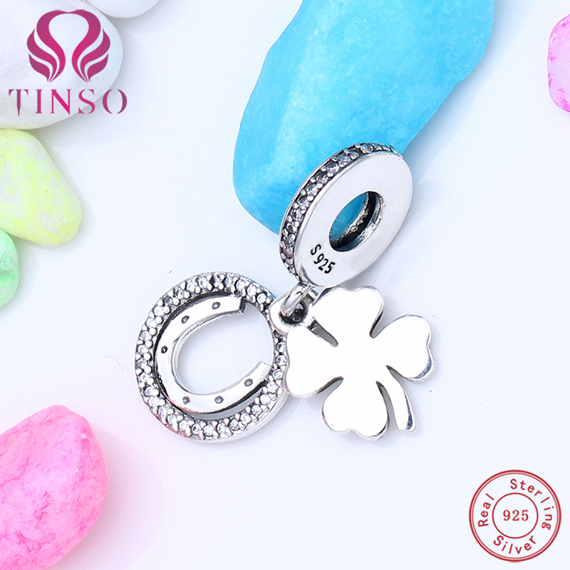 цена на 2017 New High Quality 100% 925 Sterling Silver Lucky Dangle Charms Bead Fit Original Charms Pandora Bracelet 925 Silver Jewelry