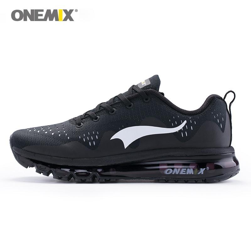 купить ONEMIX 2018 Men Lightweight Running Shoes Women Cool Sneakers Damping Cushion Breathable Knit Mesh Vamp Outdoor Jogging Shoes по цене 3303.27 рублей