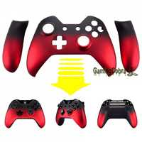 Custom parts Cover Shadow Red Panel with Front Shell Faceplate for Xbox One Controller