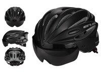 Gub k80 plus 안경이있는 일체형 스포츠 사이클링 헬멧 mountain road bike 자전거 헬멧 성인 렌즈 및 바이저