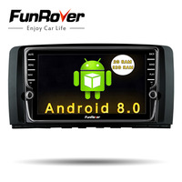 Funrover IPS 8'' Android8.0 2 Din Car Multimedia dvd radio Player For Mercedes/Benz/AMG R Class W251 R280 R300 R350 R63 car gps