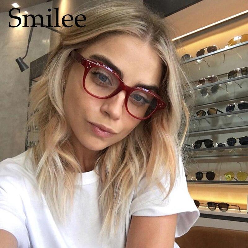 5d38580f971 2018 Fashion Women Glasses Frame Men Black Eyeglasses Frame Vintage Square  Clear Lens Glasses Optical Spectacle Frame UV400 0355-in Eyewear Frames  from ...