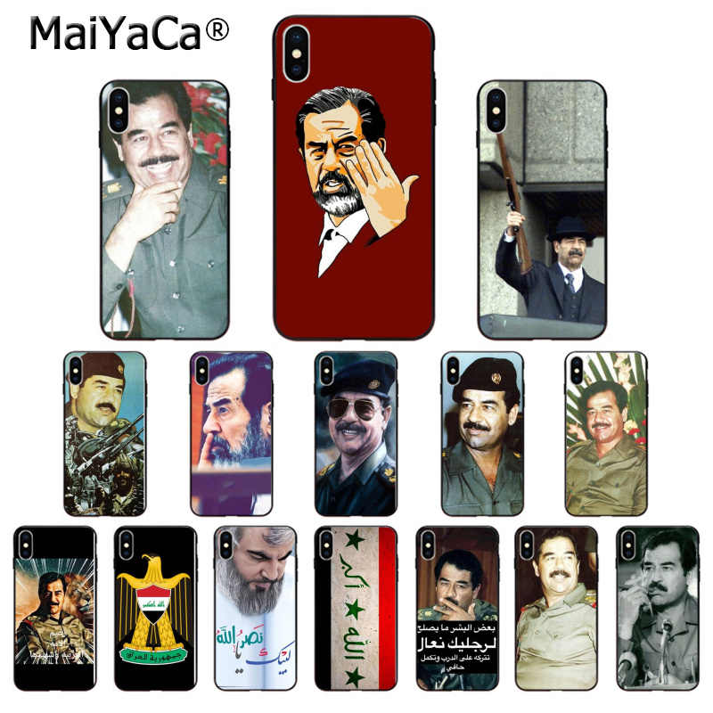 MaiYaCa Saddam Hussein irak Smart Cover черный мягкий чехол для телефона iPhone 11 pro max X XS MAX 6 6S 7 7plus 8 8Plus 5 5S XR
