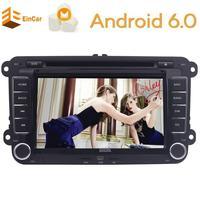 Стерео видео Радио GPS Navi Wi Fi Android 6.0 dvd плеер автомобиля GPS 2 DIN для Volkswagen VW Skoda поло passat B6 CC Tiguan Гольф