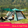 QIPO Wholesale High Quality Double Layer Ultralarge 4 Person Family Party Garden Beach Camping Gazebo Sun