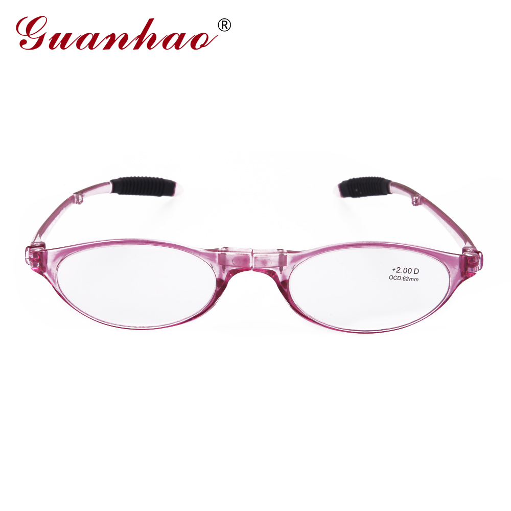 Guanhao Design Fashion Folding Reading Glasses Men Women Round TR90 - Apparel Accessories - Photo 2